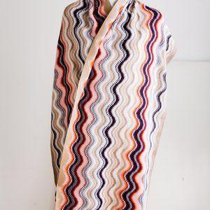 Missoni Multicolour Striped Fringe Detail Scarf